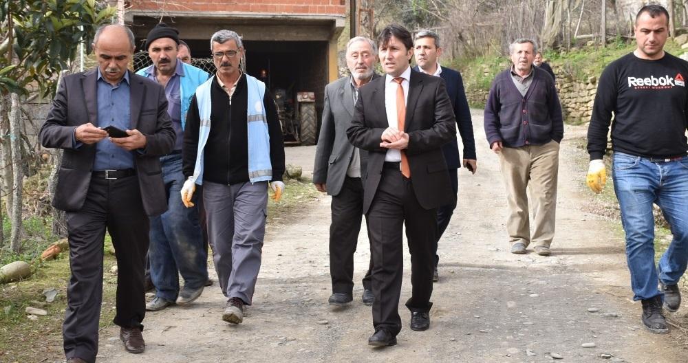 Başkanımız Kürüz Mahallesi Parke Taş Yol Kaplama Çalışmalarını İnceledi