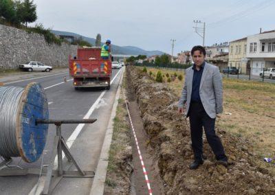Samsun-Sinop Karayolu Şehir Geçiş Hattı Aydınlatma Projesi Start Aldı