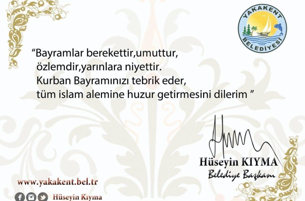 Başkanımız Sayın Hüseyin KIYMA'nın Kurban Bayramı Mesajı