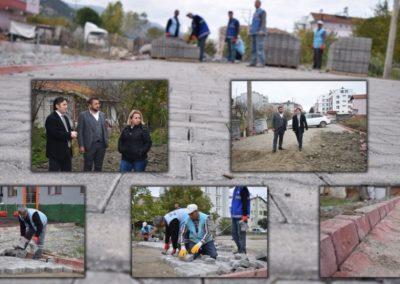 İnönü Sokak Kilit Taş Çalışmalarımız Devam Ediyor