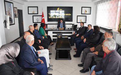 Başkanımız Hüseyin Kıyma,  İlçe Kaymakamı Fatih  Eroğlu'na hayırlı olsun ziyaretinde bulundu.