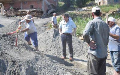 Kürüz Gürgenlik Mahallesi Beton Yol Çalışmalarına Başlanılmıştır.