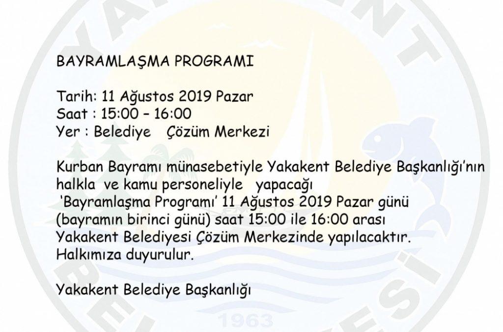 Yakakent Belediyesi Bayramlaşma Programı
