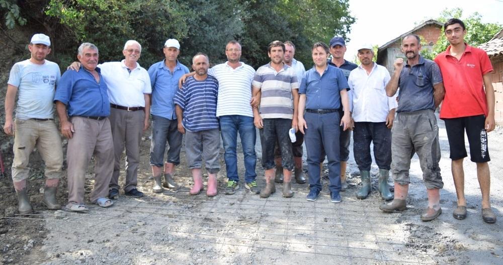 Kozköy Mahallesi Tongaz Mevkii Beton Yol Çalışmaları