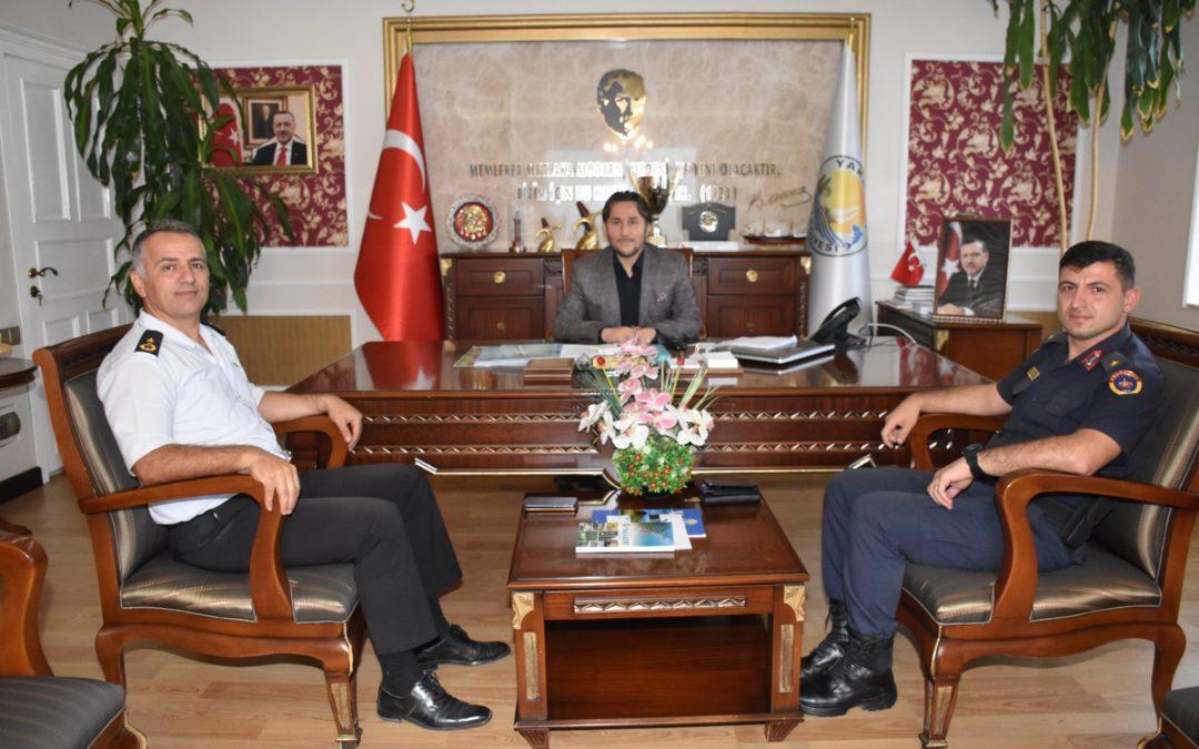 Binbaşı Kalaycı ve Teğmen Kuruçelik Başkanımızı ziyaret etti.