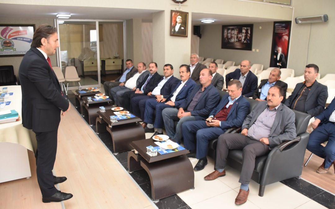 2019 yılı Ekim Ayı Muhtarlar İstişare ve Değerlendirme Toplantısı Yapıldı.