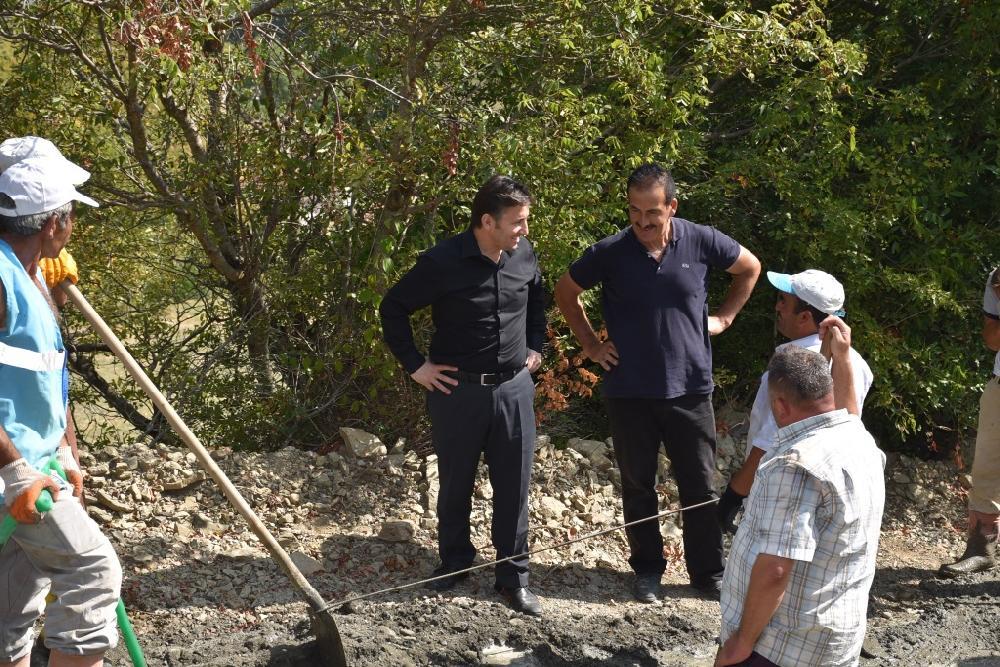 Küplüağzı Erikçe Mahalle İçi Beton Yol Çalışmaları Tamamlandı