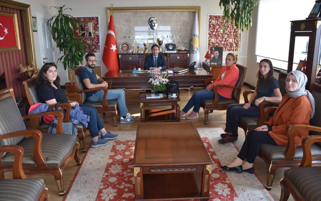 Erciyes Üniversitesi Mimarlık Fakültesi, Şehir ve Bölge Planlama Bölümü Öğretim Görevlileri Başkanımızı ziyaret etti