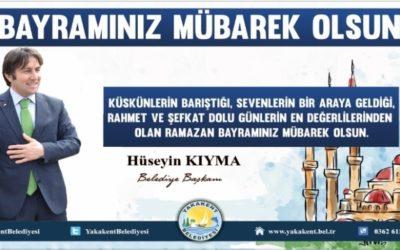 Başkanımız Sayın Hüseyin KIYMA'nın Ramazan Bayramı Kutlama Mesajı