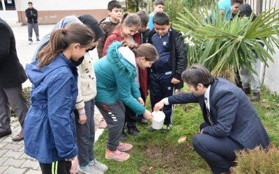 İlçemiz Okullarına Gül Fidan Dağıtımı Yapıldı.