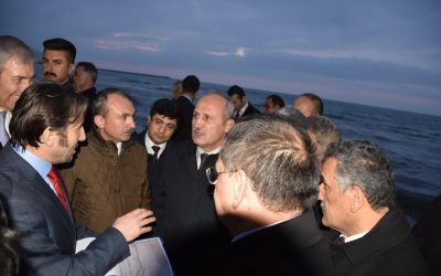 Ulaştırma ve Altyapı Bakanımız Sayın Mehmet Cahit TURHAN İlçemizi Ziyaret Ederek İncelemelerde Bulundu.