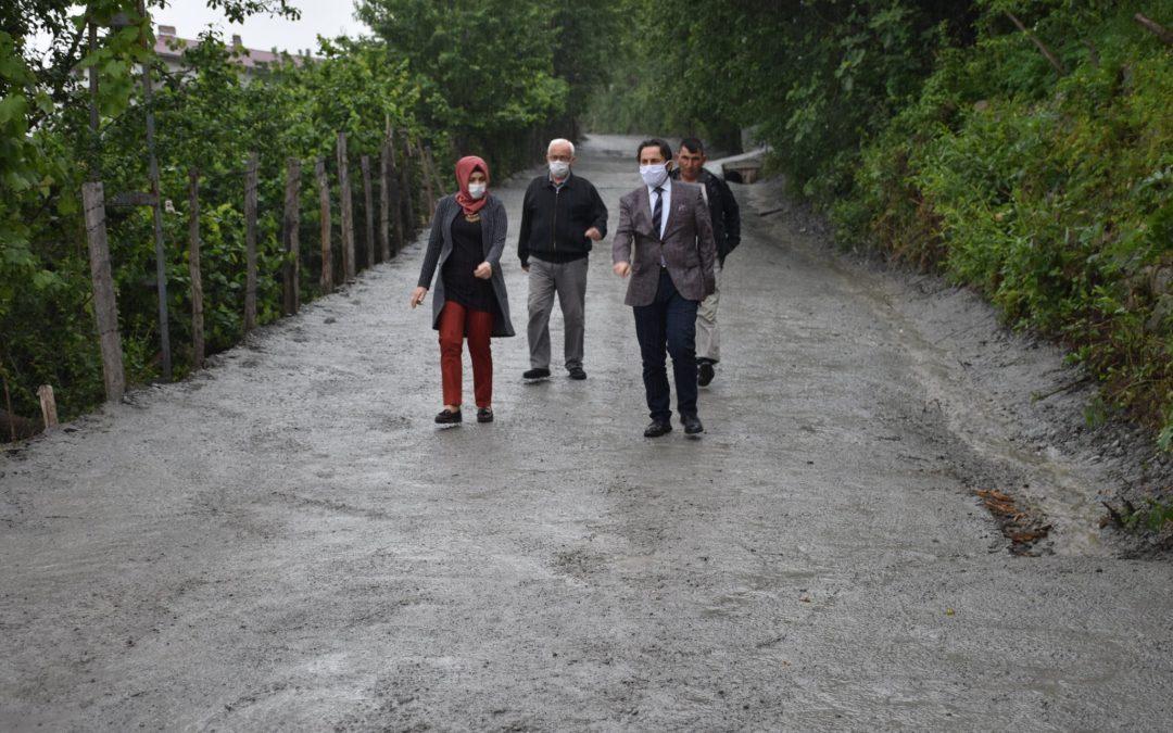 Kuzören Mahallesi Merkez Sokak Üzerindeki Beton Yol Çalışmalarımız Tamamlandı.