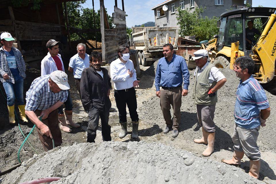 Sarıgöl'de Beton Yol Çalışmalarımız Devam Ediyor.