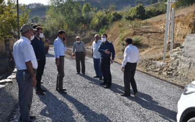 Mutaflı- Kayalı Grup Yolunun 1. Kat Sathi Kaplama Asfalt Çalışmaları Bugün İtibarıyla Tamamlandı