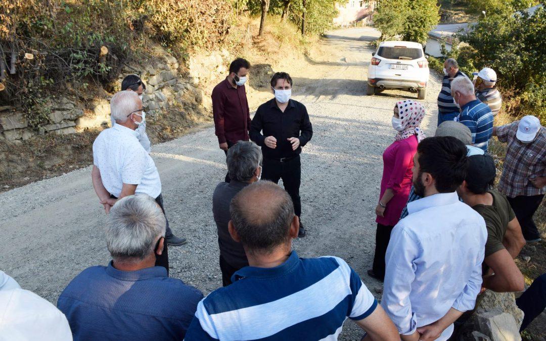 Çepni Grup Yolunda 1. Kat Sathi Kaplama Asfalt Çalışması