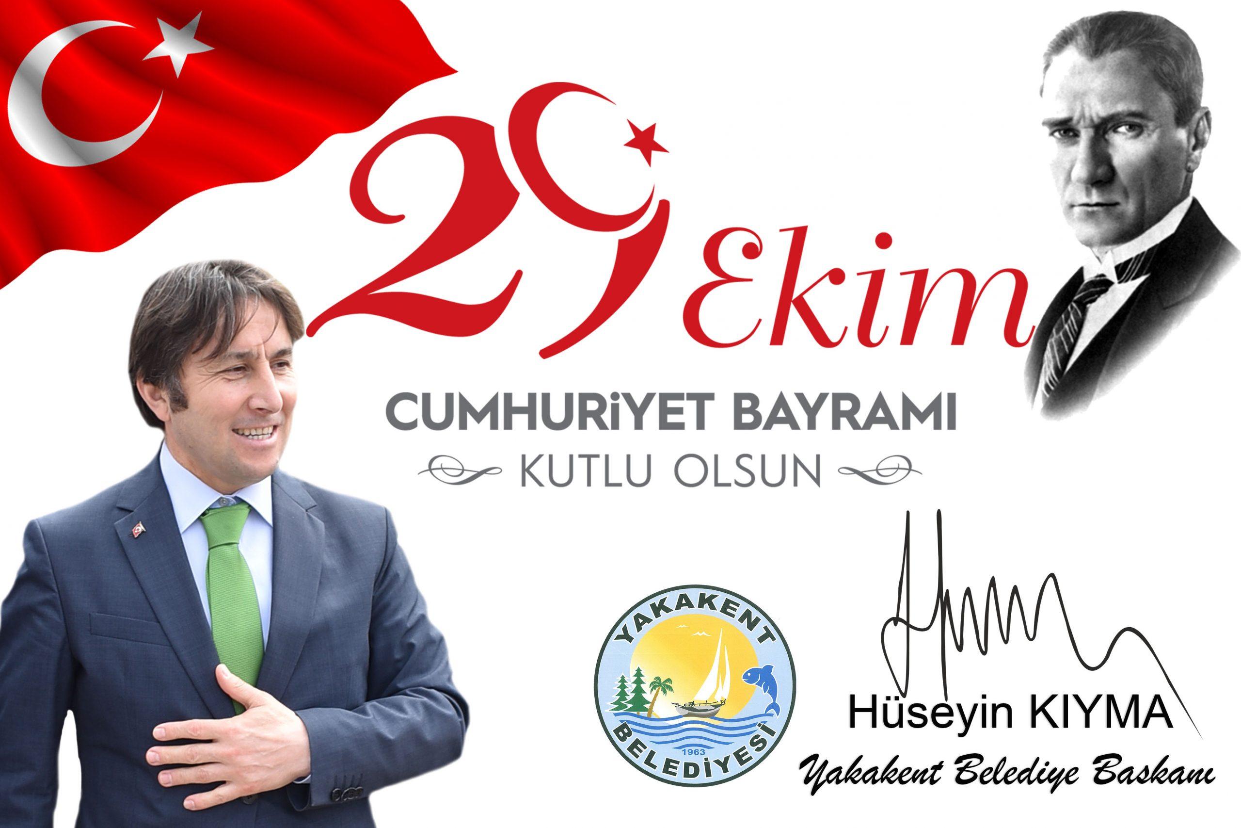 Başkanımız Hüseyin KIYMA 29 Ekim Cumhuriyet Bayramı Mesajı