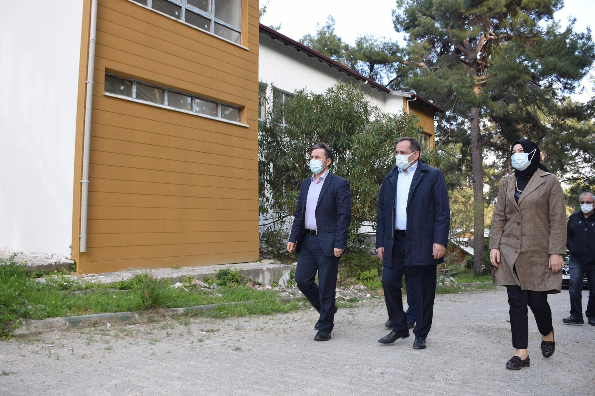Samsun Büyükşehir Belediye Başkanımız Mustafa Demir, Belediye Başkanımız Hüseyin Kıyma, Çamgölünde İncelemelerde Bulundular.