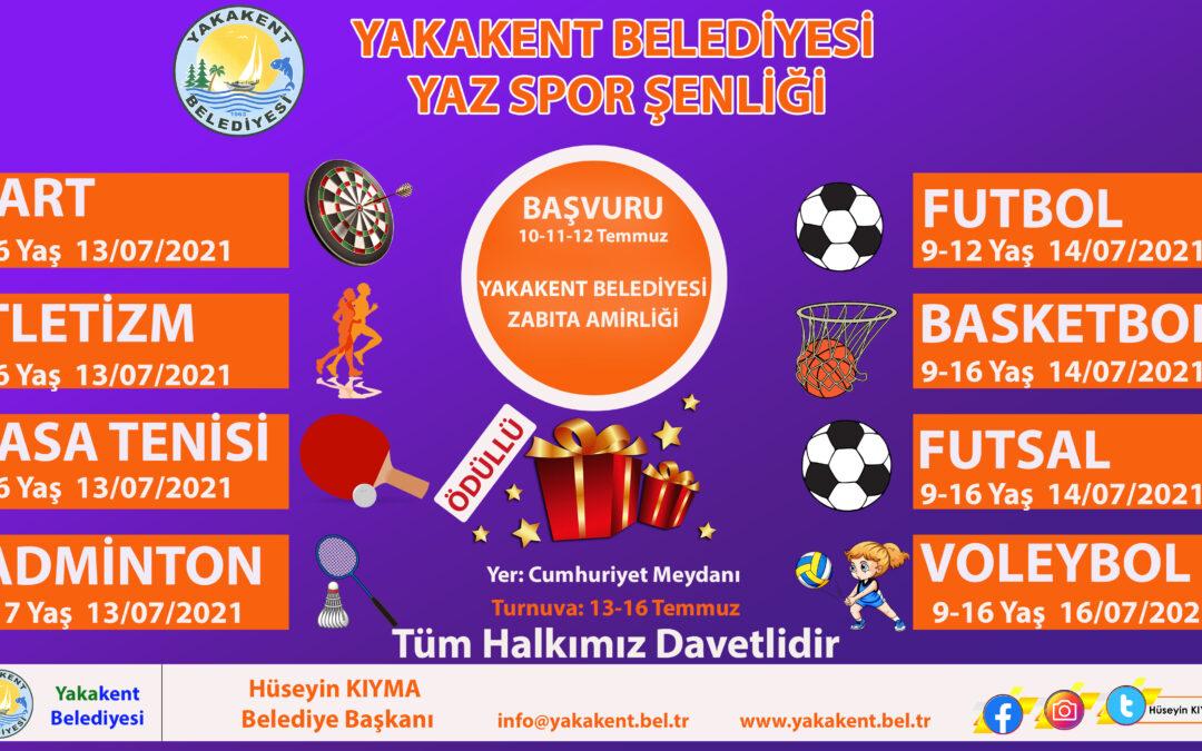 Yakakent Belediyesi Yaz Spor Şenlikleri yarın başlıyor.